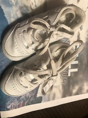 84957f120a1 Reebok Peek-n-fit Toddler Child Baby Size 6.5 White Leather Athletic Shoes