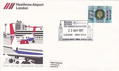 CC218) 1977 First Commercial Flight London.New York - Silver Jubilee CONCORDE