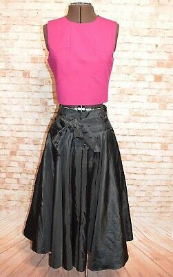 A524	Yvonne Vintage 1990S Black Evening Tulle Skirt 12 Like New