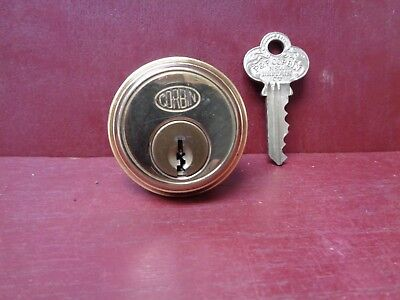Vintage Corbin Brass Cylinder Lock With Key For Mortise Lock