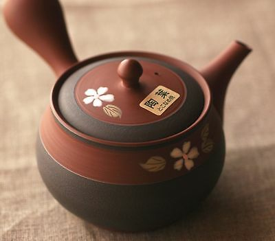 Japanese pottery Tea pot KYUSU Tokoname ware sakura soil color made in Japan New