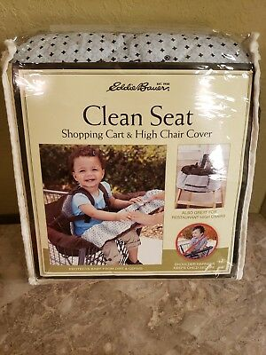 New Eddie Bauer Clean Seat Baby Shopping Cart And High Chair Cover