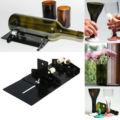 Glass Bottle DIY Cutter Beer Wine Bottles Jar Cutting Machine Recycle Tool Set