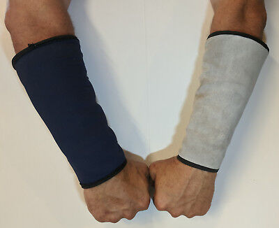 Wrist/Arm Protective Sleeves for Splatter and Heat - Cowhide Exterior - 2 Pair