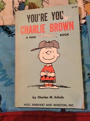 PEANUTS BOOK by CHARLES SCHULZ 1ST EDITION YOU'R YOU CHARLIE BROWN USED