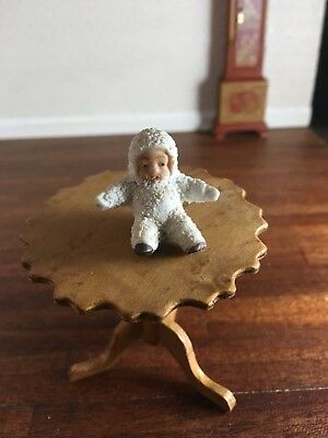 Antique Vintage Miniature Porcelain Bisque Individual Seated Snow Baby Figure