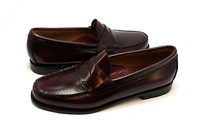 1ed13b02153c2 BASS WEEJUNS MENS Penny Loafers Burgundy Leather Size 10 M