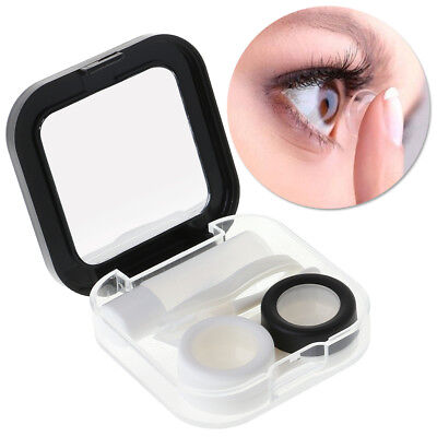 Contact Lens Box Cartoon Square Travel Portable Container Holder Eyes Care Case