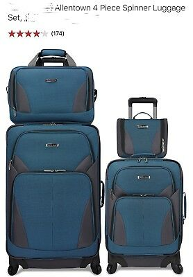 New Travel Select Allentown 4 pc Set Expandable Spinner Luggage Suitcase