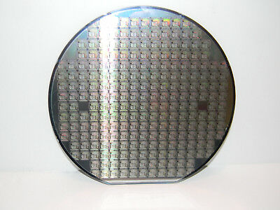 "6"" Silicon Wafer: 1996 AMD 80C188 SOC (System on a Chip) PCnet-Mobile WLAN MAC"