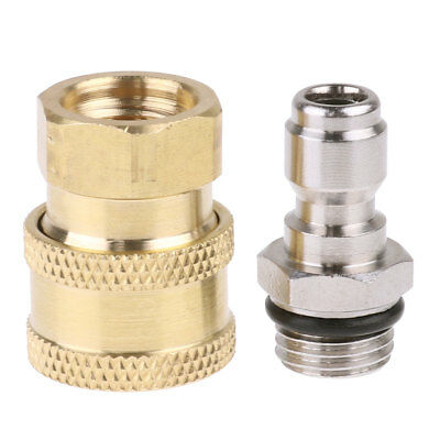 2Pcs Garden Male - Female Brass Quick Connect Watering Hose End Quick Connector