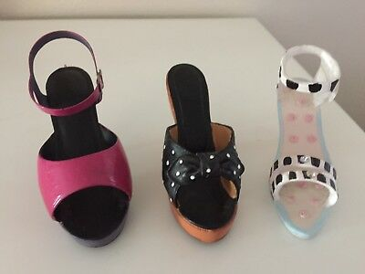 Miniature Shoe Collection Lot of 3 - High Heels