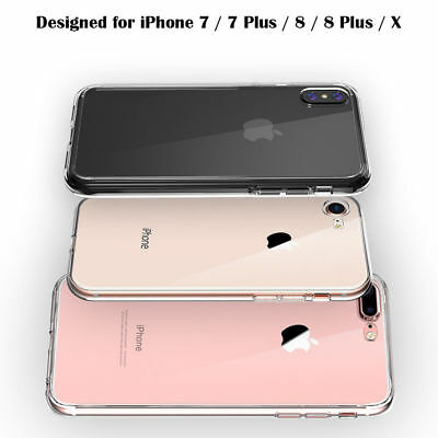 Transparent Silicone Clear Case Shockproof Cover for iPhone X/6/6s/7/8 Plus