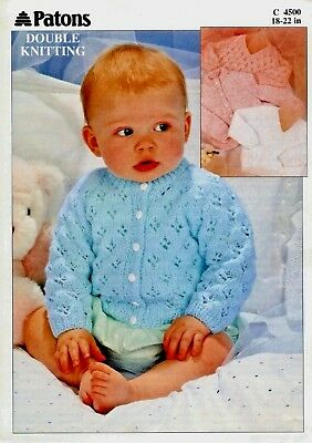 """Patons~4500  """"COPY""""  Baby / Child Knitting Pattern  18-22 in  8 Ply Yarn"""