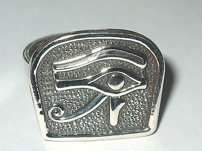 Eye of Horus Silver Ring (Hallmarked)(Adjustable)