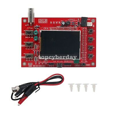 """Assembled DSO138 Digital Oscilloscope 2.4"""" TFT Open Source 1Msps with Probe"""