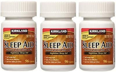 Kirkland Sleep Aid Doxylamine Succinate 25 mg, 96 Tablets (3 Pack)