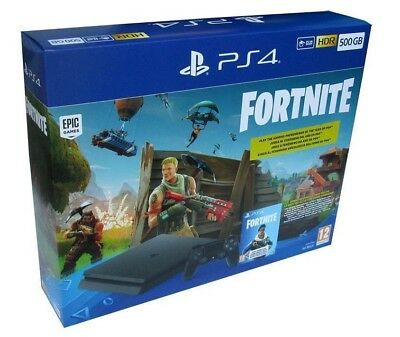 CONSOLE SONY PS4 500GB F Chassis + Fortnite Voucher PLAYSTATION 4 SLIM