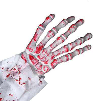 Gags & Practical Jokes 1 Pair Halloween Skeleton Hands Fake Bloody Hand Toy Zombie Propstoy For Kids Halloween Party Supplies Haunted House Decorations
