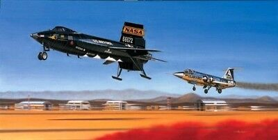 First Re-Entry [X-15 66672] PRINT Signed by Pilot Cmdr. Joe Engle; Mike Machat
