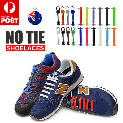 No Tie Elastic Shoelaces Kids Runner Trainer Unisex Sneakers Sport Shoe Laces