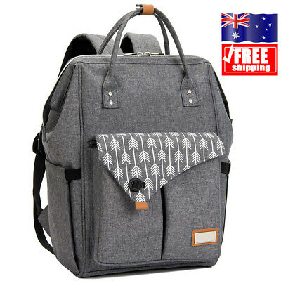 AU Mummy Nappy Diaper Bag Baby Travel Changing Nursing Backpack Waterproof Bags