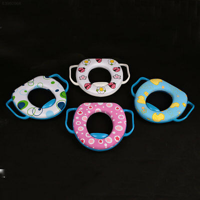 F597 Washable Cartoon O Shaped Toilet Seat Cover With Handles Polyester Tool