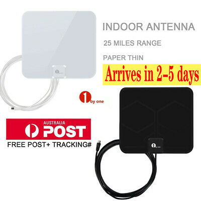 1Byone Digital Indoor HDTV TV Antenna 1080P UHF/VHF/FM 50miles Black/White Color