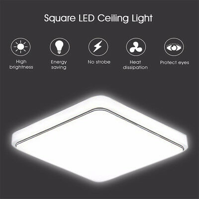1000LM LED Ceiling Down Light Lamp Flush Mount For Kitchen Bedroom 12W/24W/36W