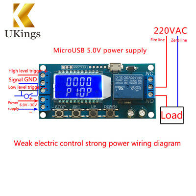 DC 5V Time Delay Relay Module Power off Trigger Cycle Timming Circuit Switch LCD