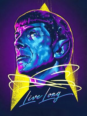 "Star Trek Dr Spock ""Live Long '60's TV Starship Enterprise Sticker Or Magnet"