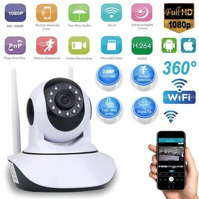 Wireless 1080P/960P HD Pan Tilt WIFI IP Camera Home Security Webcam Night Vision
