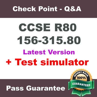 Checkpoint 156-315.80 CCSE R80 Check Point Exam Dump Test PDF + VCE SIM (2018)