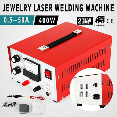 50A 400W 2in1 Pulse Sparkle Spot Welder Gold Silver Platinum Jewelry Welding