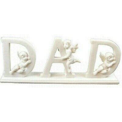 Dad Letters With Cherub Angel Memorial Fathers Day Gift Home Ornament Decoration