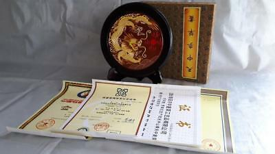 Signed + Certificate Hand made Amazing Chinese Display  Dragon Tian Zhong Shan