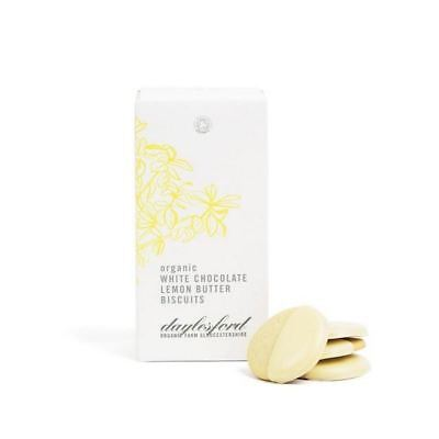 4x Daylesford Organic White Chocolate Dipped Lemon Biscuits 150g