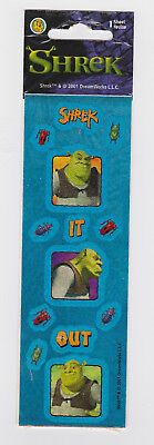 Stickers 2001 Shrek It Out 1 Sheet NIP Sealed Dreamworks