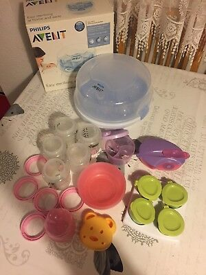 Philips Avent Microwave Steam Steriliser, Baby Bottles, Food Storage Boxes Etc