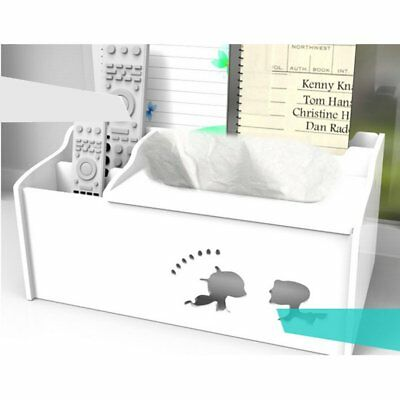 Desktop Rectangle Tissue Box Pumping Tray Household Plastic Storage