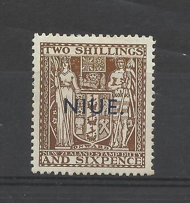 NIUE 1945 GV1  2/6d Brown   mounted mint