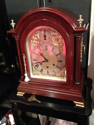 Absolute Stunning Red Mahogany Gustav Becker Bracket Clock Westminster