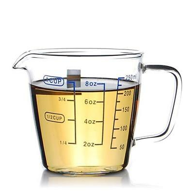 Measuring Cup Borosilicate Glass 2 Side Intervals Scale Kitchen Accessories New
