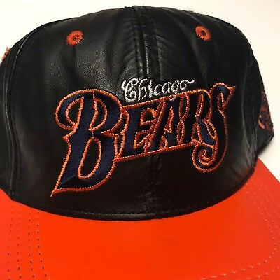 promo code 38e9f fc562 ... canada vtg chicago bears leather snapback 90s hat cap nfl football  60660 ff759