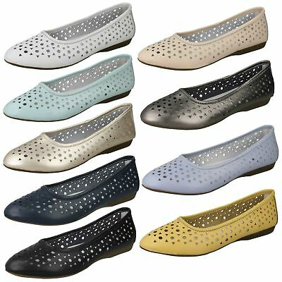Ladies Down To Earth Leather Dolly Shoes F8R0261