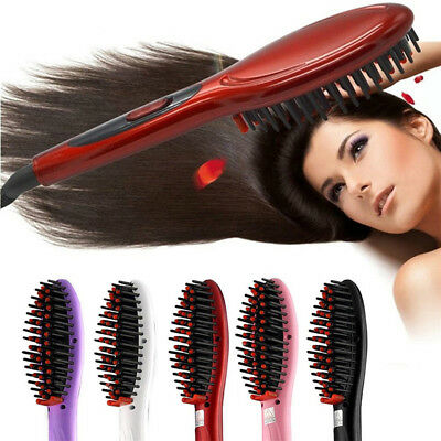 Fast Hair Straightener Electric Irons Professional Comb Hair Brush Straightening