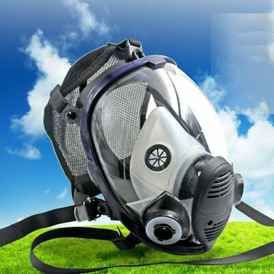 Full Face Respirator Anti-dust Chemical Safety Gas Mask with Cotton Filter MQ