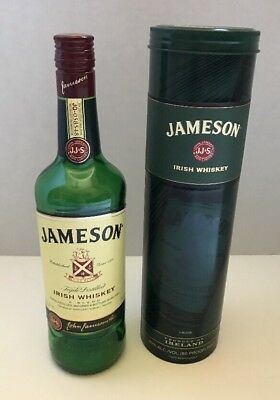 Jameson Irish Whiskey Tin Canisters With It's 750ml Bottle (Empty)