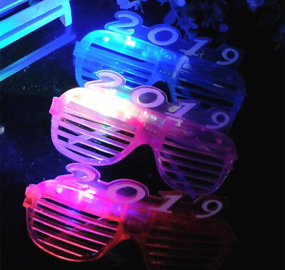2019 Happy New Year Eve LED Sun Glass for Decoration