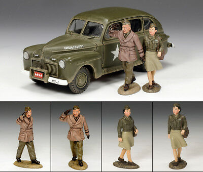 King and (&) Country DD154(SL) - The Eisenhower Staff Car Set